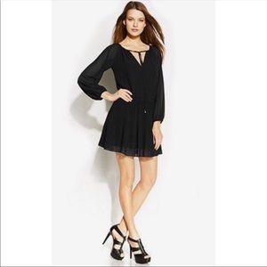 MICHAEL Michael Kors XS long sleeve black dress